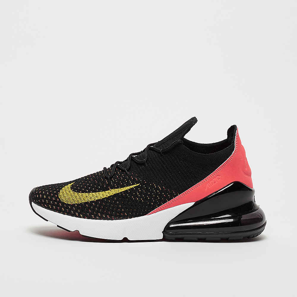d8353645e0 NIKE Air Max 270 Flyknit black/yellow strike/bright crimson