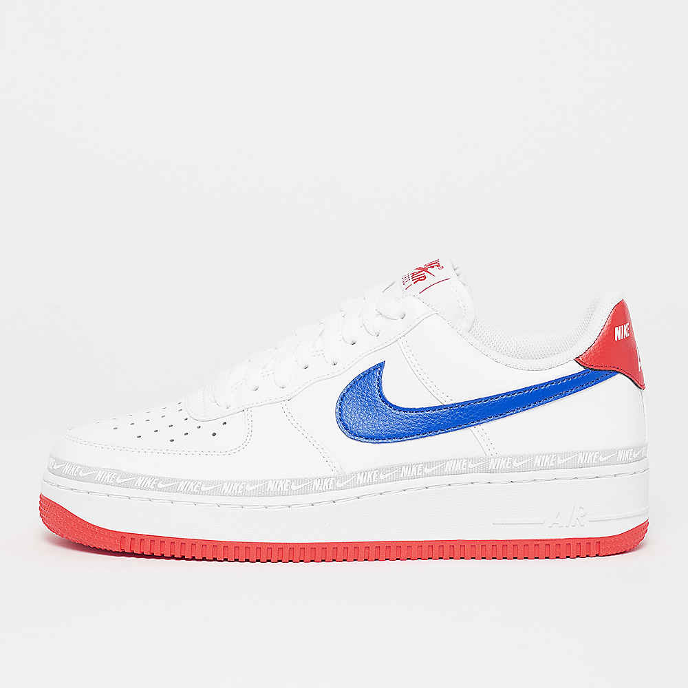 unique design in stock cute cheap Air Force 1 07 LV 8 white/game royal/habanero red