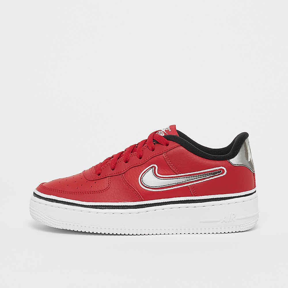 314772da1da7a NIKE Air Force 1 LV8 (GS) Sport varsity red black white Basketball bei  SNIPES bestellen