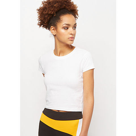4a86ec17d Urban Classics Ladies Stretch Jersey Cropped Tee white