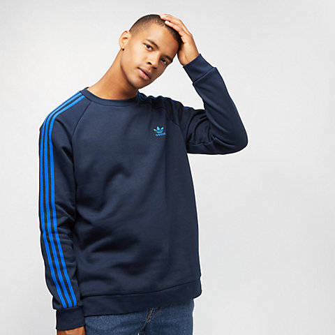 f154f206a39703 adidas 3-STRIPES CREW collegiate navy/BLUEBIRD