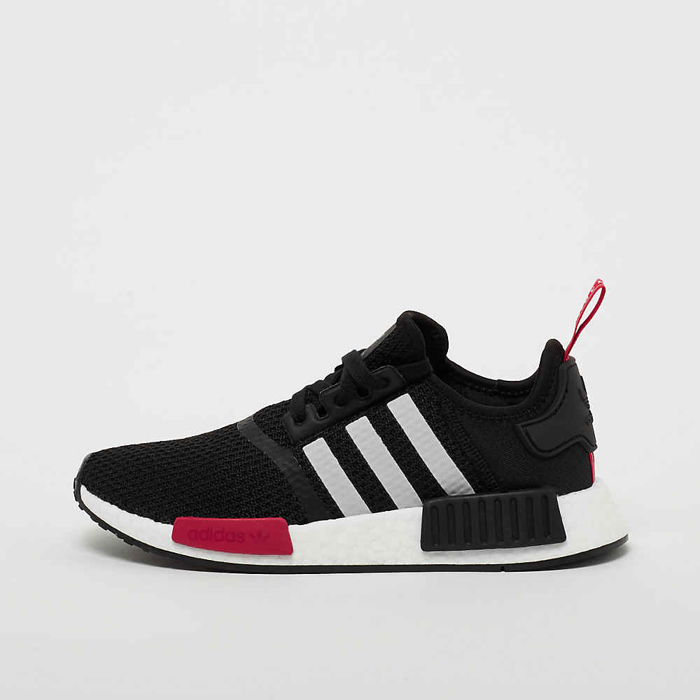 NMD R1 J black/white/power red