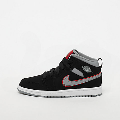 262348a3de JORDAN Air Jordan 1 Mid black/particle grey/white/gym red