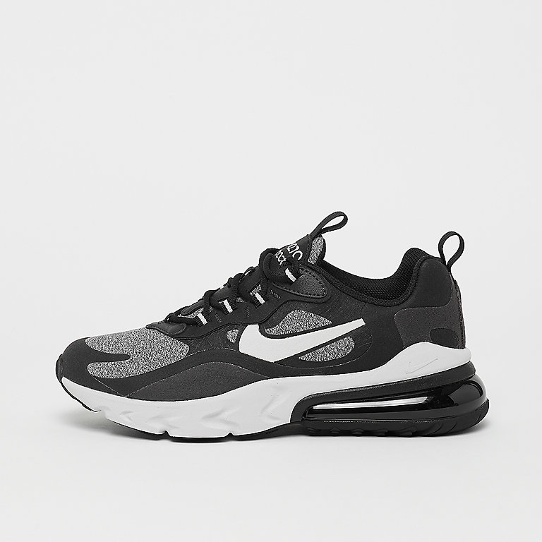 Air Max 270 React (GS) blackvast greyoff noirwhite