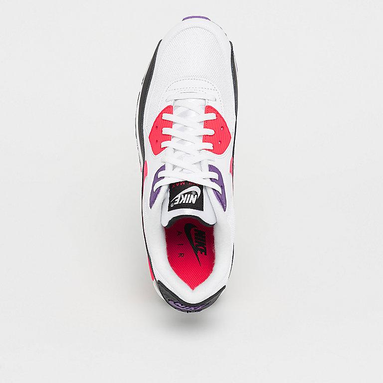 Neu Nike Air Max 90 Essential White Red Orbit Psychic Purple