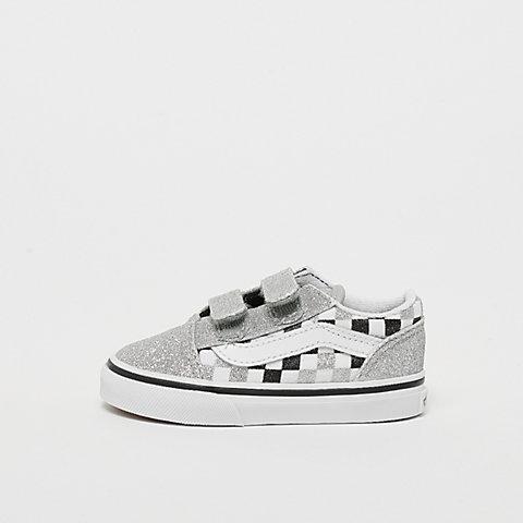 3330383c7d VANS Old Skool V (glitter checkboard) silver/true white