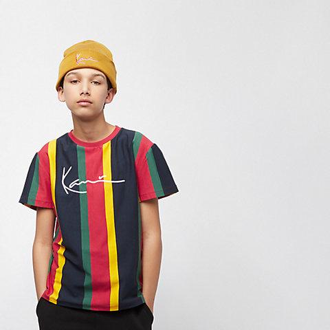 1c45136dea63bd Karl Kani. Junior KK Signature Pinstripe Tee red/navy/yellow/green